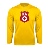 Syntrel Performance Gold Longsleeve Shirt-KA Shield