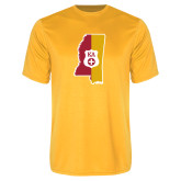Performance Gold Tee-Mississippi