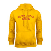 Gold Fleece Hoodie-Arched Kappa Alpha Order