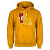 Gold Fleece Hoodie-Louisiana