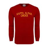 Cardinal Long Sleeve T Shirt-Arched Kappa Alpha Order