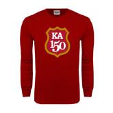 Cardinal Long Sleeve T Shirt-KA 150 Shield
