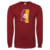 Cardinal Long Sleeve T Shirt-Mississippi