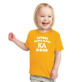 Toddler Gold T Shirt-Future Kappa Alpha Rose