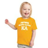 Toddler Gold T Shirt-Future Kappa Alpha