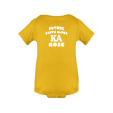 Gold Infant Onesie-Future Kappa Alpha Rose