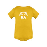 Gold Infant Onesie-Future Kappa Alpha