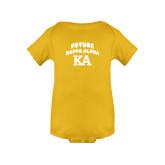 Gold Infant Onesie-Future Kappa Alpha
