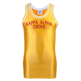 Replica Gold Adult Basketball Jersey-Arched Kappa Alpha