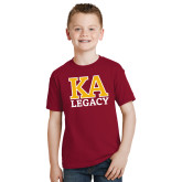 Youth Cardinal T Shirt-KA Legacy