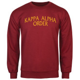 Cardinal Fleece Crew-Arched Kappa Alpha Order