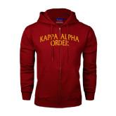 Champion Cardinal Fleece Full Zip Hood-Arched Kappa Alpha Order