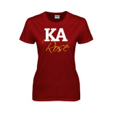 Ladies Cardinal T Shirt-KA Rose