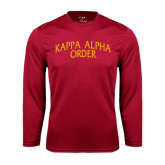 Performance Cardinal Longsleeve Shirt-Arched Kappa Alpha Order