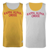 Gold/White Reversible Tank-Arched Kappa Alpha