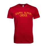 Next Level SoftStyle Cardinal T Shirt-Arched Kappa Alpha Order
