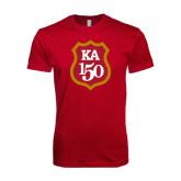 Next Level SoftStyle Cardinal T Shirt-KA 150 Shield