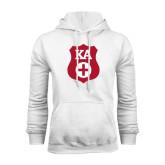 White Fleece Hoodie-KA Shield