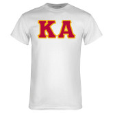 White T-Shirt-KA Tackle Twill, Tackle Twill