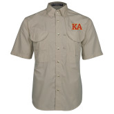 Khaki Short Sleeve Performance Fishing Shirt-Two Color KA