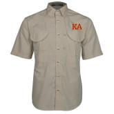 Khaki Short Sleeve Performance Fishing Shirt-Two Color KA
