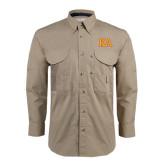 Khaki Long Sleeve Performance Fishing Shirt-Two Color KA