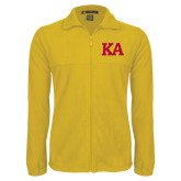Fleece Full Zip Gold Jacket-KA