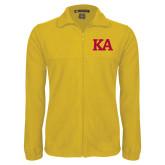 Fleece Full Zip Gold Jacket-KA