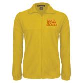Fleece Full Zip Gold Jacket-Two Color KA