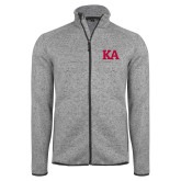 Grey Heather Fleece Jacket-KA