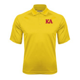 Gold Textured Saddle Shoulder Polo-KA