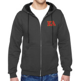 Charcoal Fleece Full Zip Hoodie-Two Color KA