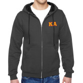 Charcoal Fleece Full Zip Hoodie-KA Tackle Twill