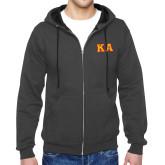 Charcoal Fleece Full Zip Hoodie-KA Tackle Twill