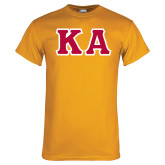 Gold T Shirt-KA Tackle Twill, Tackle Twill
