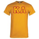 Gold T Shirt-KA Tackle Twill, Tackle Twill