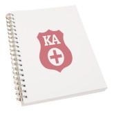 Clear 7 x 10 Spiral Journal Notebook-KA Shield
