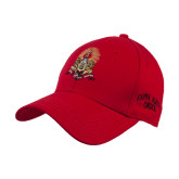 Red Heavyweight Twill Pro Style Hat-Coat of Arms
