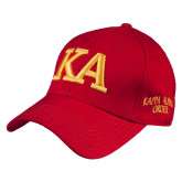 Red Heavyweight Twill Pro Style Hat-KA