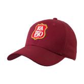 Cardinal Heavyweight Twill Pro Style Hat-KA 150 Shield