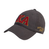 Charcoal Twill Unstructured Low Profile Hat-Two Color KA