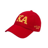 Red Twill Unstructured Low Profile Hat-KA