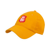 Gold Twill Unstructured Low Profile Hat-KA 150 Shield