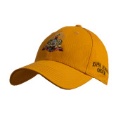 Gold Heavyweight Twill Pro Style Hat-Coat of Arms