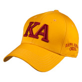 Gold Heavyweight Twill Pro Style Hat-KA