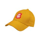 Gold Heavyweight Twill Pro Style Hat-KA 150 Shield