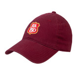 Cardinal Twill Unstructured Low Profile Hat-KA 150 Shield