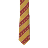 Traditional Silk Tie-Crimson and Gold Tie