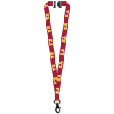 3/4 Inch Smooth Polyester Sublimated Lanyard w/Black Lobster Claw and Breakaway-Greek Letters