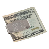 Dual Texture Stainless Steel Money Clip-KA Engraved